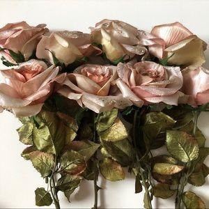 Glitter Silk Roses - 8